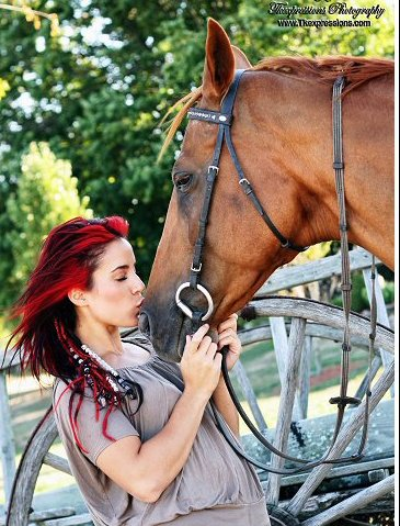Cara Sorbello with horse